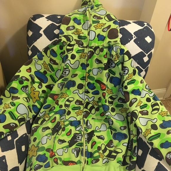 Bape X Kaws >> Bape Shirts X Kaws Design Baby Milo Xxl Zip Up Hoodie Poshmark